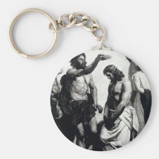 Baptism of Christ. circa 1879 Basic Round Button Key Ring