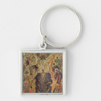 Baptism of Christ, from Sandzak Silver-Colored Square Key Ring
