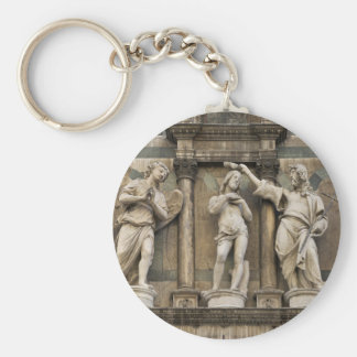 Baptism of christ - statue from Florence Basic Round Button Key Ring