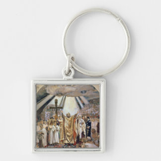 Baptism of Rus, 1885-96 Silver-Colored Square Key Ring