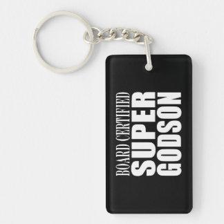 Baptism Parties : Board Certified Super Godson Single-Sided Rectangular Acrylic Key Ring
