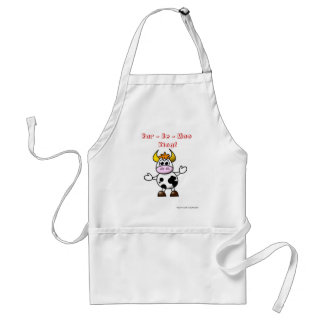 Bar - be - moo king! Cow barbecue king funny humor Standard Apron