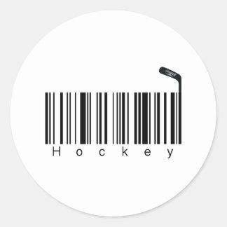 Bar Code Hockey Classic Round Sticker