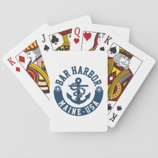 Bar Harbor Maine USA Playing Cards