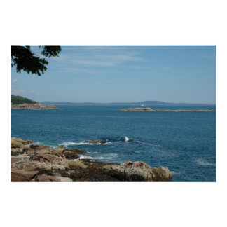 Bar Harbor Seascape Poster