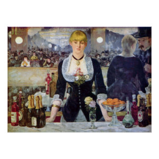 Bar in the Folies-Bergere by Edouard Manet Poster