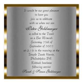 Bar Mitzvah ceremony Invitation