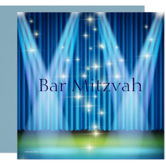 Bar Mitzvah Invitation, Lighted Stage Card
