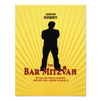 Bar Mitzvah Movie Star Reply Card 11 Cm X 14 Cm Invitation Card