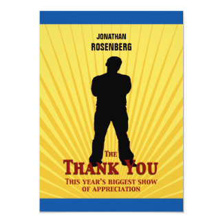 Bar Mitzvah Movie Star Thank You Card 13 Cm X 18 Cm Invitation Card