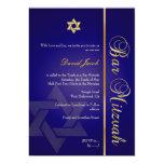 Bar Mitzvah/navy blue/gold Custom Invitation