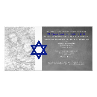Bar Mitzvah Photo Invitations Picture Card