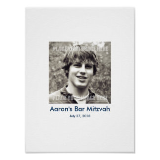 Bar Mitzvah Sign In Party Board Poster