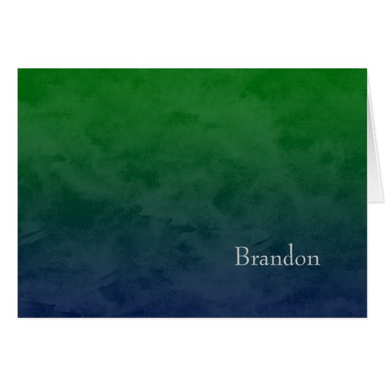 Bar Mitzvah Stylish Green Star of David Ombre Card