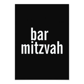 Bar or Bat Mitzvah Announcements {Black}