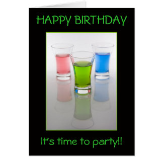 Bar Shots, Happy Birthday! Greeting Card