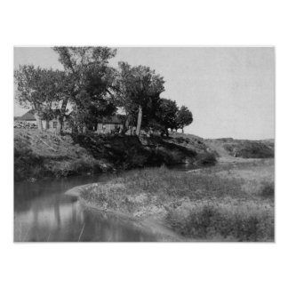 Bar Tee Ranch on Hat Creek Photograph Poster