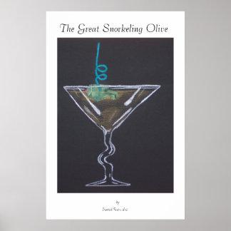 Bar Time Snorkeling Poster