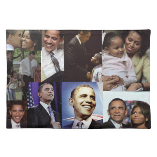 BARACK AND MICHELLE OBAMA placematt Placemat