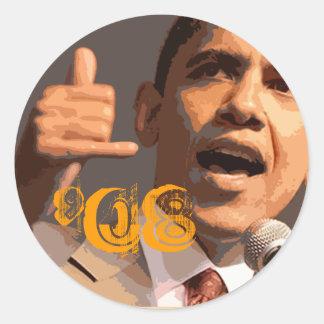 barack_obama-779027, '08 classic round sticker