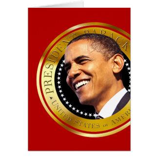 Barack Obama Gold Seal Card