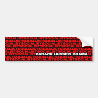 Barack Obama: Socialist Car Bumper Sticker
