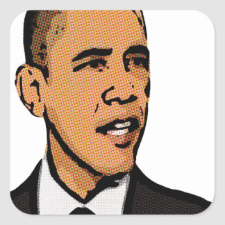 barack obama square sticker