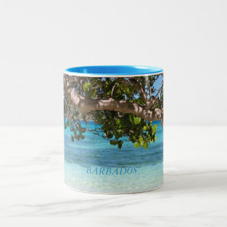 Barbados Beach Scenery Two-Tone Coffee Mug