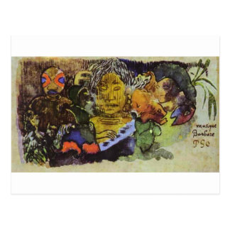 Barbarian music by Paul Gauguin Postcard
