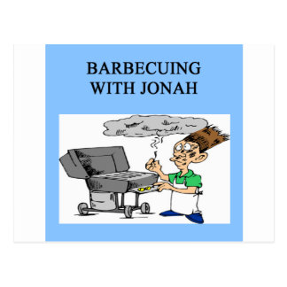 barbecueing with jonah postcard