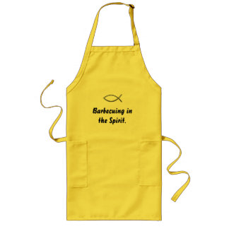 """""""Barbecuing in the Spirit"""" with Ichthys Long Apron"""