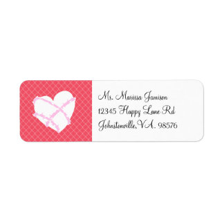 Barbed WIre Heart Chain Link Labels