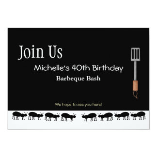 Barbeque Invitations for Michelle