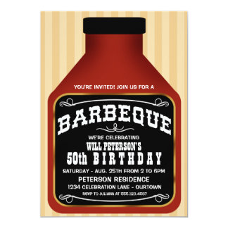 Barbeque Sauce Party Invitations