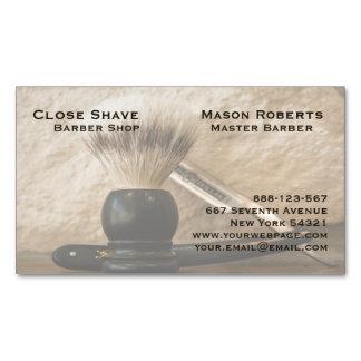 Barber Straight Edge Razor Shaving Brush Magnetic Business Card