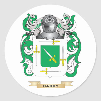 Barby Coat of Arms (Family Crest) Round Sticker