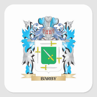 Barby Coat of Arms Square Stickers