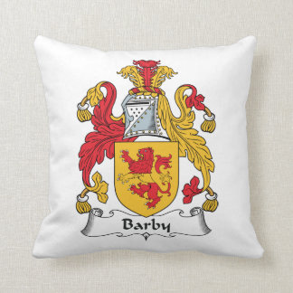 Barby Family Crest Throw Pillows