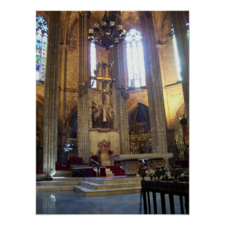 Barcelona Cathedral Poster