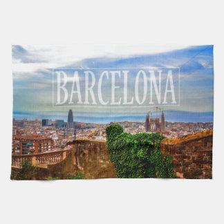 Barcelona city kitchen towel