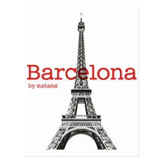 Barcelona-Eiffel by mstake Postcard