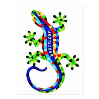 Barcelona lizard postcard