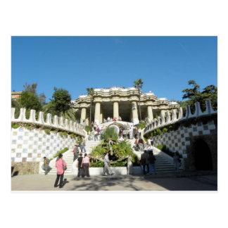 Barcelona--Parc--Guell--[kan.k] Postcard