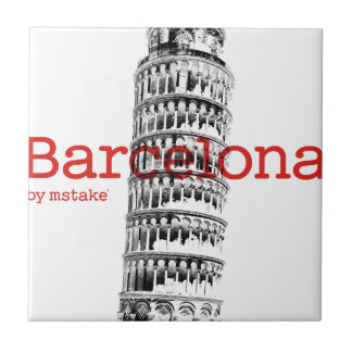 Barcelona-Pisa by mstake Small Square Tile