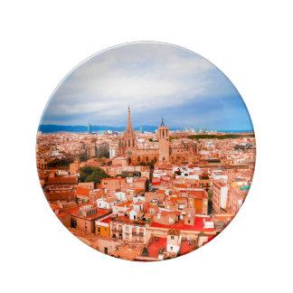 Barcelona Porcelain Plate