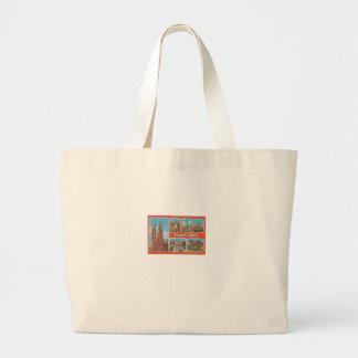 Barcelona retrospect large tote bag