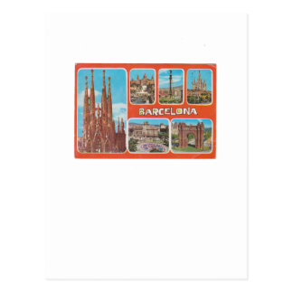 Barcelona retrospect postcard