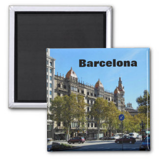 Barcelona Spain City Centre Square Magnet