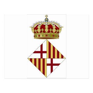 Barcelona (Spain) Coat of Arms Postcard