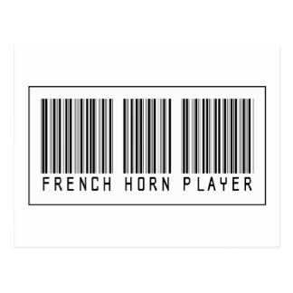 Barcode French Horn Player Post Cards